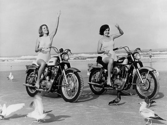 Beach Bikers-Fox Photos-Photographic Print