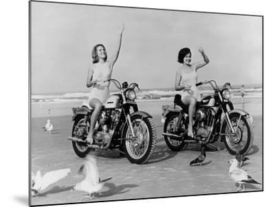 Beach Bikers-Fox Photos-Mounted Photographic Print