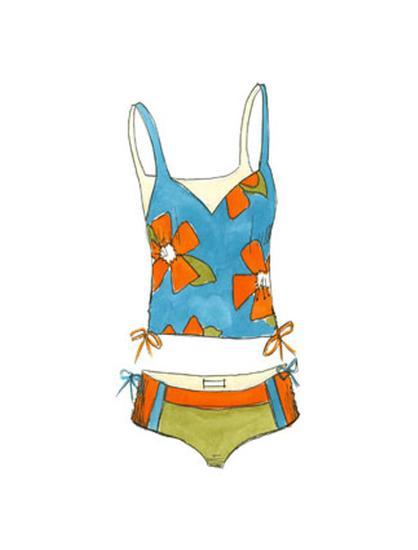 Beach Bikini II-Jennifer Goldberger-Art Print