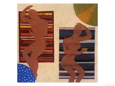 Beach Blankets-Susan Gillette-Premium Giclee Print