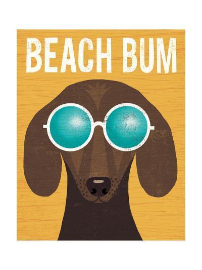 Beach Bums Dachshund I Bum-Michael Mullan-Art Print