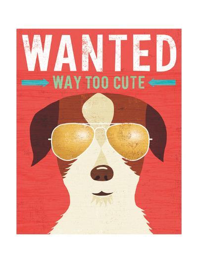 Beach Bums Terrier I Wanted-Michael Mullan-Art Print