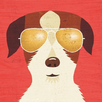 Beach Bums Terrier I-Michael Mullan-Art Print