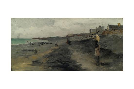 Beach by Dieppe, 1881-Frank Myers Boggs-Giclee Print