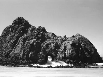 Beach Cave with Water Flooding Through-Rob Lang-Photographic Print