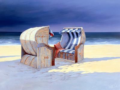 Beach Chairs I-Sigurd Schneider-Art Print