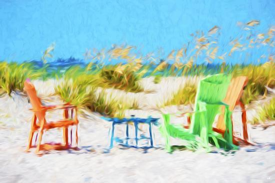 Beach Chairs - In the Style of Oil Painting-Philippe Hugonnard-Giclee Print