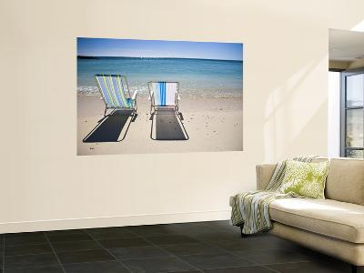 Beach Chairs on Shore-Micah Wright-Wall Mural