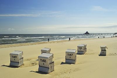 Beach Chairs, Usedom, Baltic Sea, Mecklenburg-Vorpommern, Germany, Europe-Jochen Schlenker-Photographic Print