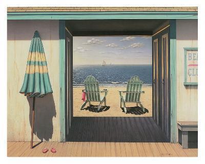Beach Club-Daniel Pollera-Art Print