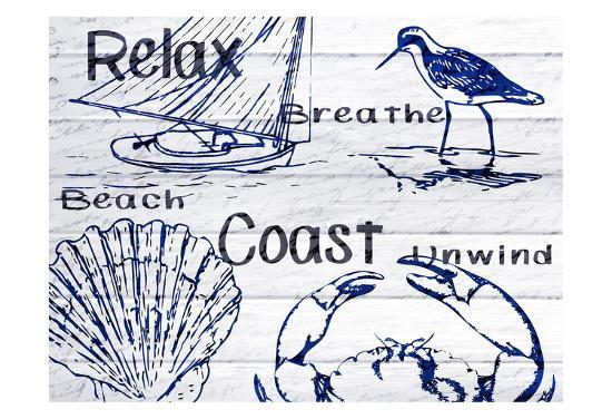 Beach Coast-Kimberly Allen-Art Print