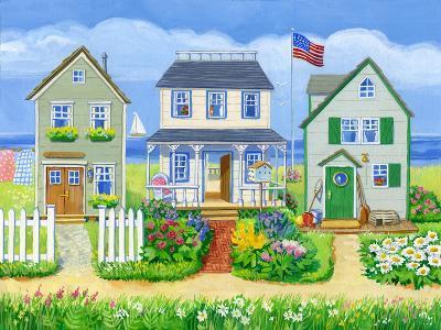Beach Cottages-Geraldine Aikman-Giclee Print