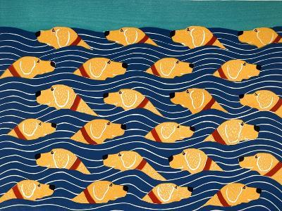 Beach Cover Sheet Yellow Yellow-Stephen Huneck-Giclee Print