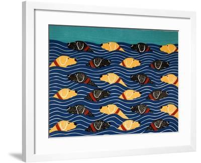 Beach Cover Sheet-Stephen Huneck-Framed Giclee Print