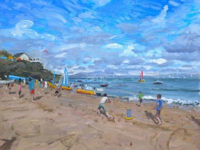 Beach Cricket, Abersoch, 2013-Andrew Macara-Giclee Print