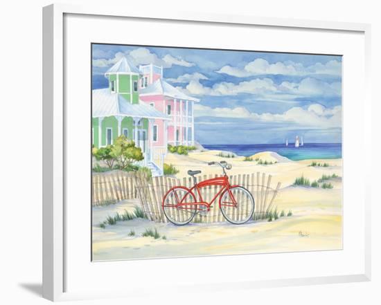 Beach Cruiser Cottage I-Paul Brent-Framed Art Print