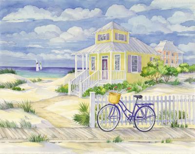 Beach Cruiser Cottage II-Paul Brent-Art Print