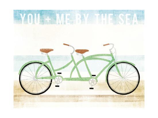 Beach Cruiser Tandem v2-Michael Mullan-Art Print