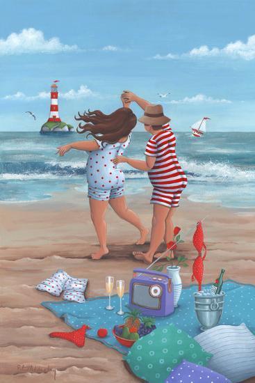 Beach Dance-Peter Adderley-Art Print