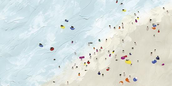 Beach Day - Shore-Kristine Hegre-Giclee Print