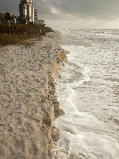 Beach Erosion During a Storm, Gulf Coast, Florida, USA-Marli Miller-Photographic Print