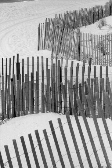 Beach Fencing 1 A-Jeff Pica-Photographic Print