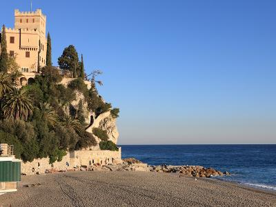 Beach, Finale Ligure, Liguria, Italy-Vincenzo Lombardo-Photographic Print