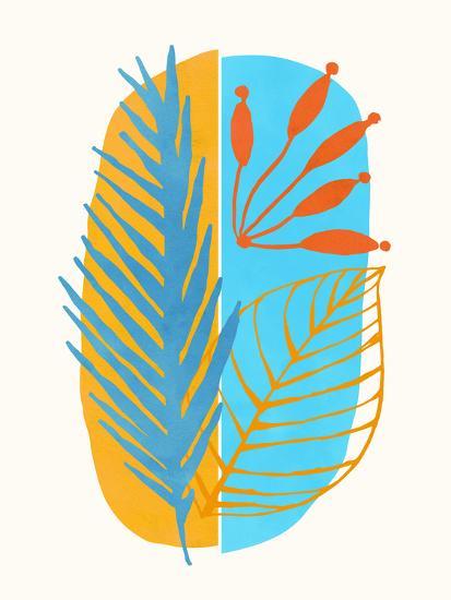 Beach Flora Abstract-Modern Tropical-Art Print