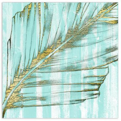 Beach Frond in Gold I - Free Floating Tempered Glass Wall Art