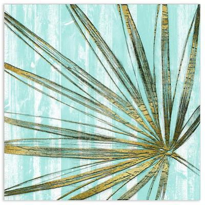 Beach Frond in Gold II - Free Floating Tempered Glass Wall Art