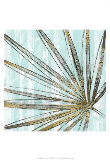Beach Frond in Gold II-Jennifer Goldberger-Art Print