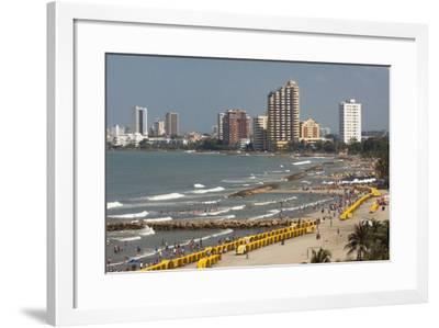 Beach Front, Cartagena, Atlantico Province. Colombia-Pete Oxford-Framed Photographic Print