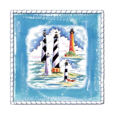 Beach-Front-Lighthouses-Anne Ormsby-Art Print