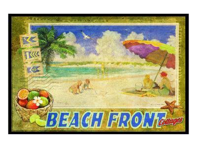 Beach Front-Chris Vest-Art Print