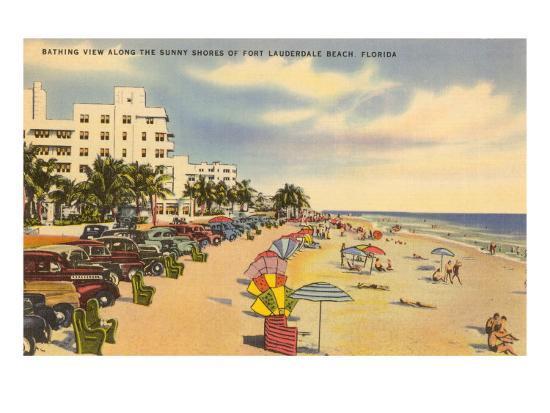 Beach, Ft. Lauderdale, Florida--Art Print