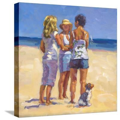 Beach Gossip-Lucelle Raad-Stretched Canvas Print