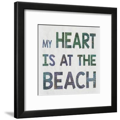 Beach Heart-Melody Hogan-Framed Art Print