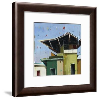 Beach House-David Dauncey-Framed Premium Giclee Print