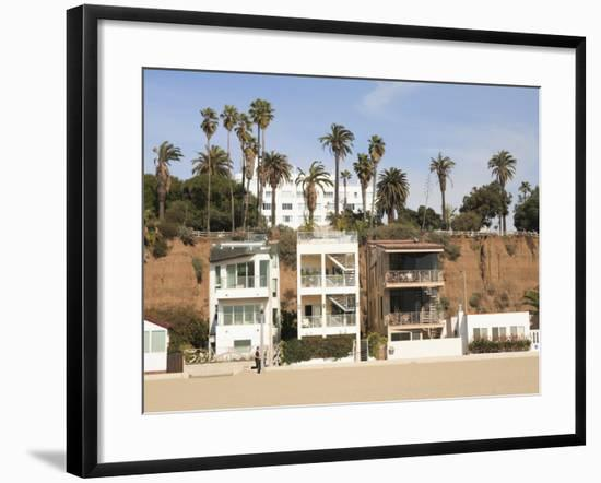 Beach Houses, Santa Monica, Promenade, Los Angeles, California, Usa-Wendy Connett-Framed Photographic Print