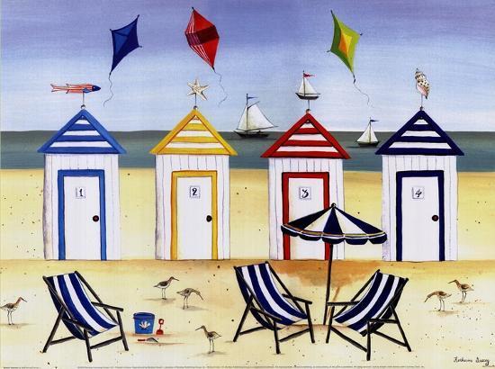 Beach Houses-Katharine Gracey-Art Print