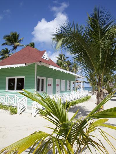 Beach Hut, Bavaro Beach, Punta Cana, Dominican Republic, West Indies, Caribbean, Central America-Frank Fell-Photographic Print