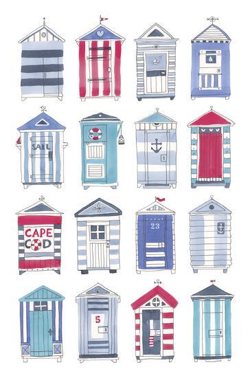 Beach Hut Splendor-Sandra Jacobs-Giclee Print
