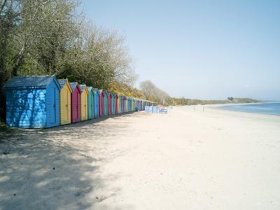 Beach Huts at Holkham Nature Reserve Near Wells-Next-The-Sea, Norfolk, England, United Kingdom-Craig Easton-Photographic Print