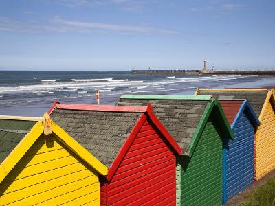 Beach Huts at Whitby Sands, Whitby, North Yorkshire, Yorkshire, England, United Kingdom, Europe-Mark Sunderland-Photographic Print