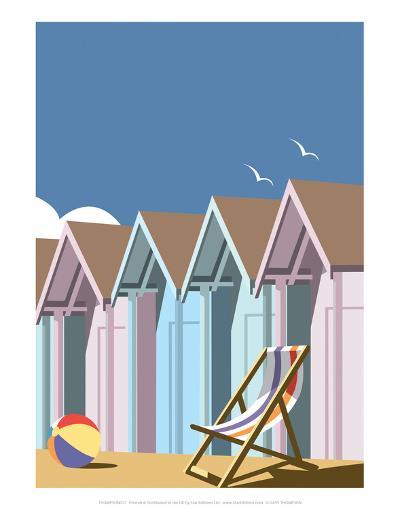 Beach Huts Close Up - Dave Thompson Contemporary Travel Print-Dave Thompson-Art Print