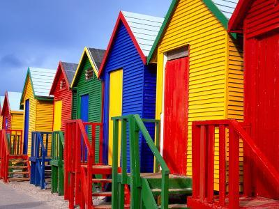 Beach Huts, Fish Hoek, Cape Peninsula, Cape Town, South Africa, Africa-Gavin Hellier-Photographic Print