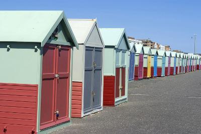 Beach Huts, Hove, Near Brighton, Sussex, England-Natalie Tepper-Photo