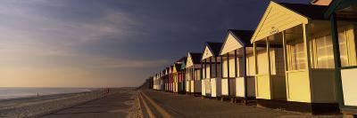 Beach Huts in a Row, Southwold, Waveney, Suffolk, England--Photographic Print