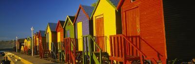Beach Huts in a Row, St James, Cape Town, South Africa--Photographic Print