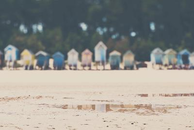 Beach Huts in England-Laura Evans-Photographic Print